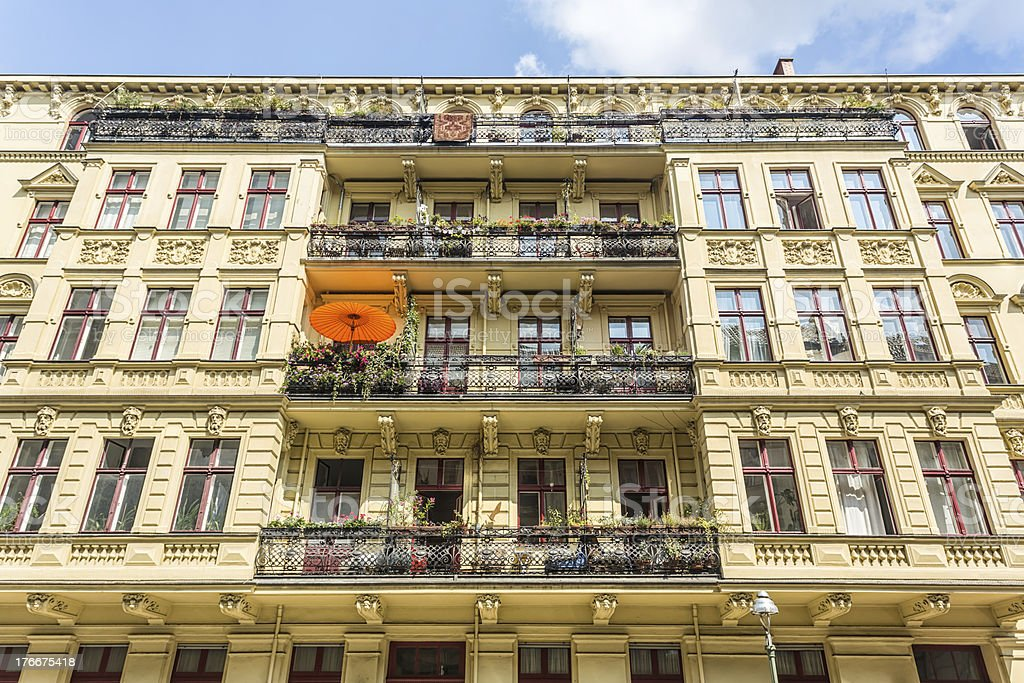 Berlin, old house facade royalty-free stock photo