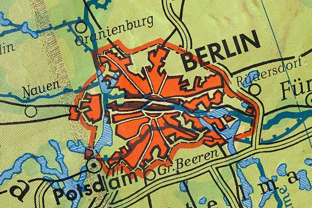 Berlin. Alte Karte. – Foto