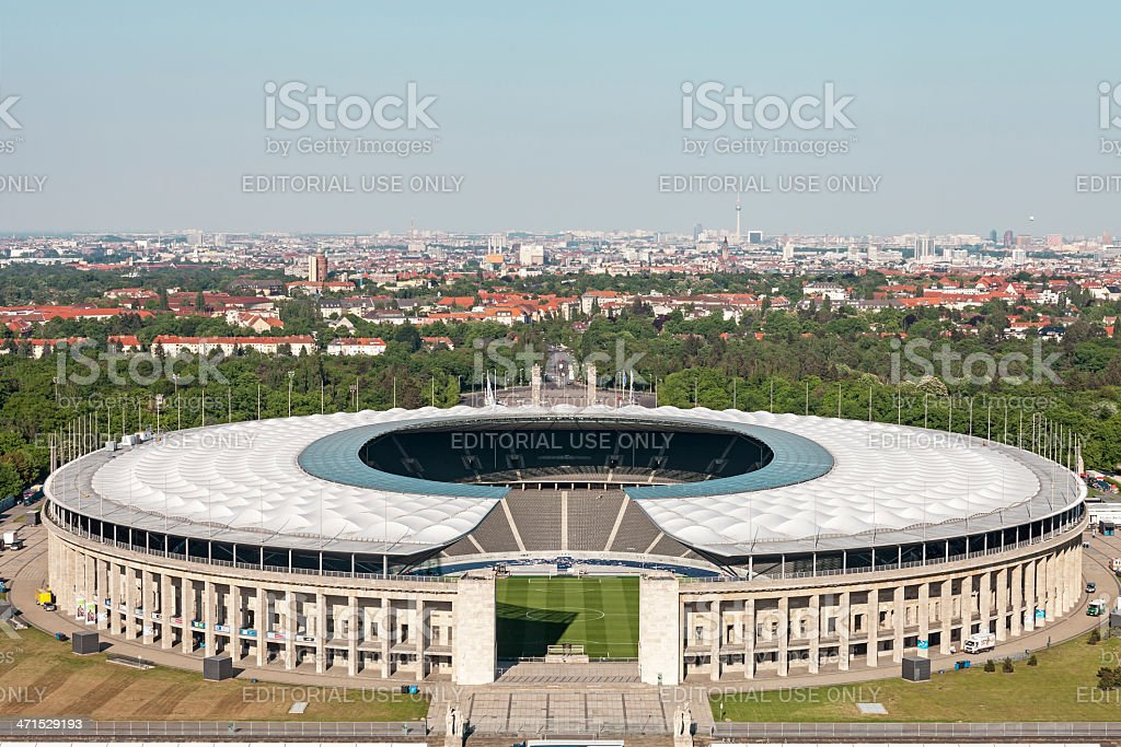 Berlin Olympic Stadium stock photo