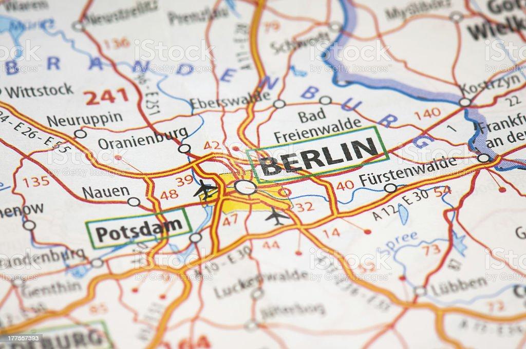 Berlin auf einer Karte anzeigen – Foto
