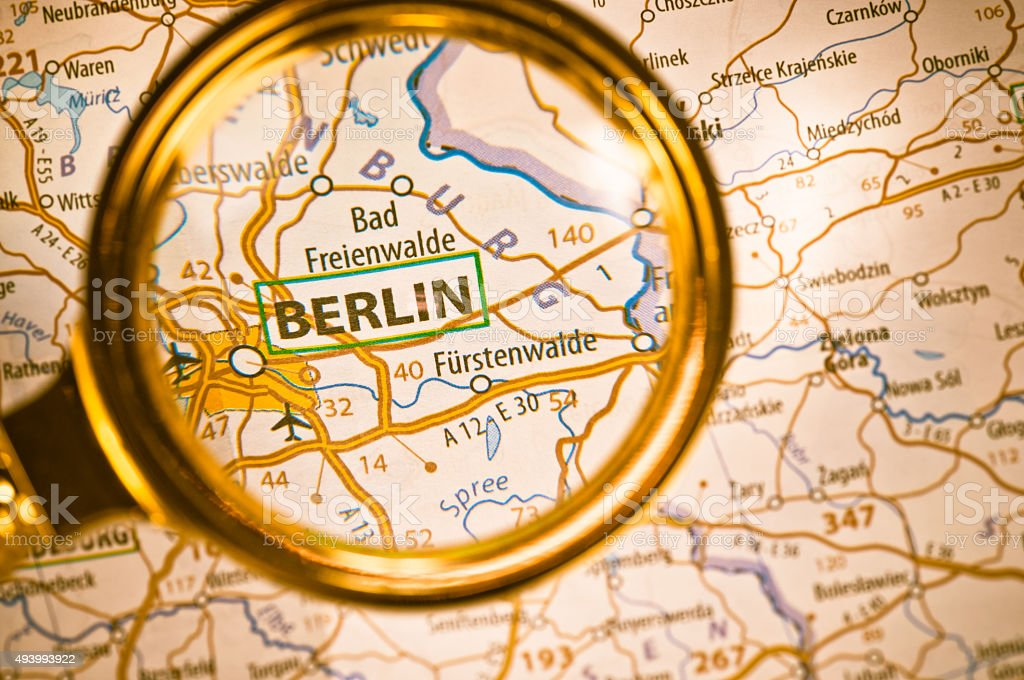 Berlin On A Map Stock Photo & More Pictures of 2015 | iStock