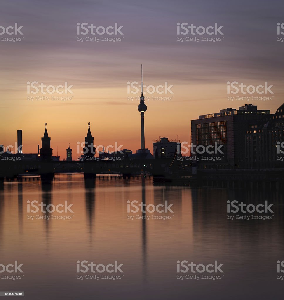 Berlin Panorama - Spree royalty-free stock photo