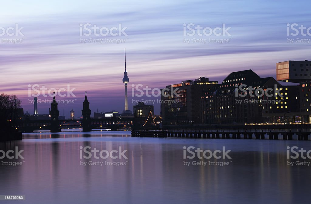 Berlin Panorama - Sunset royalty-free stock photo