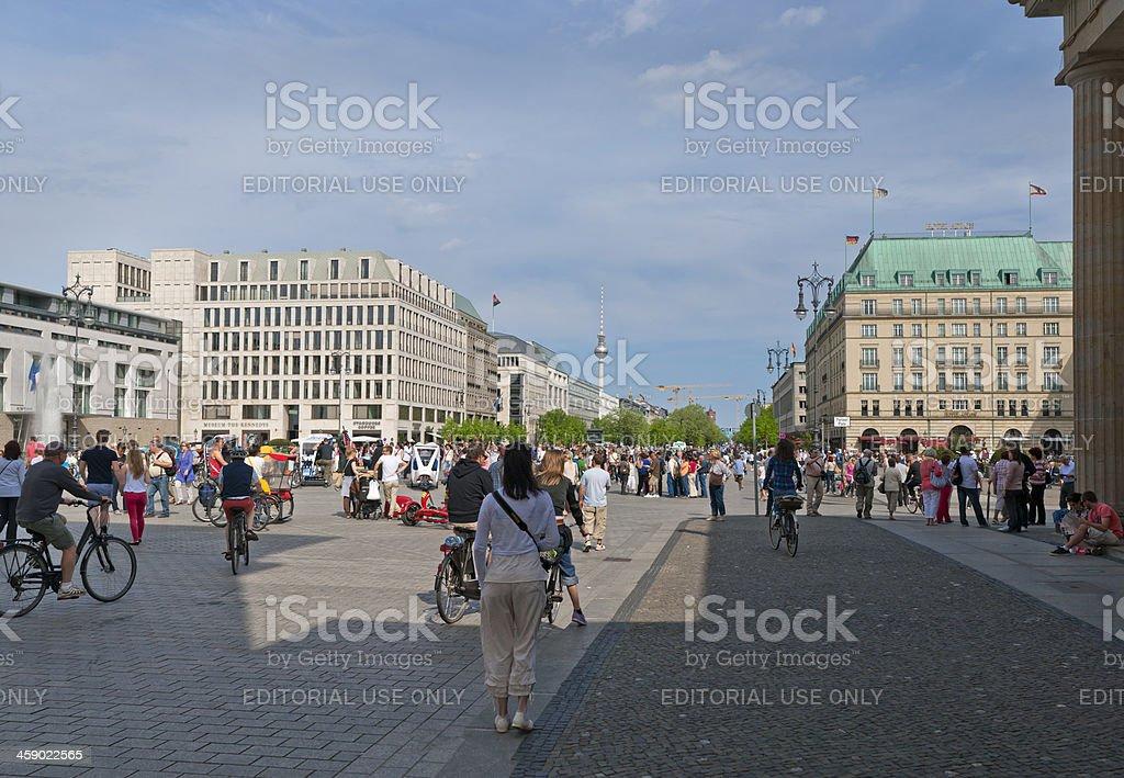 Berlin Pariser Platz stock photo
