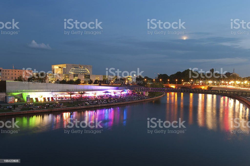 Berlin Party Strand Bar royalty-free stock photo