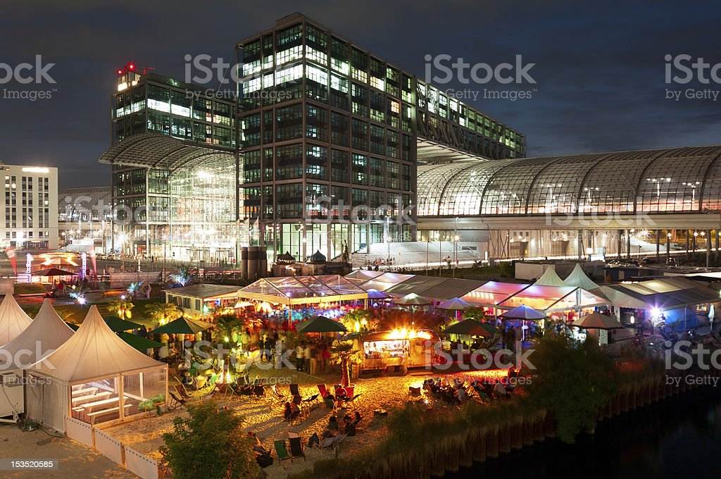 Berlin Party Central Station stock photo