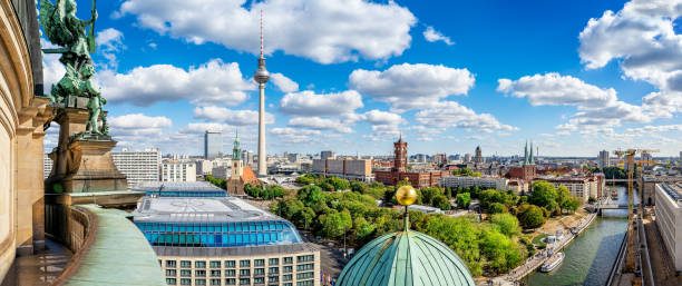 berlin berlin city center seen from the berlin cathedral berlin stock pictures, royalty-free photos & images