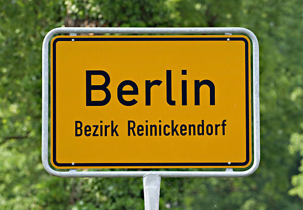 berlin place name sign - place sign stock pictures, royalty-free photos & images