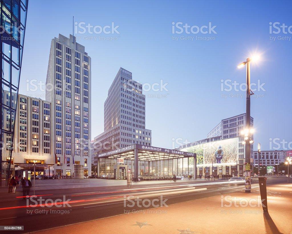 Berlin Potsdamerplatz stock photo