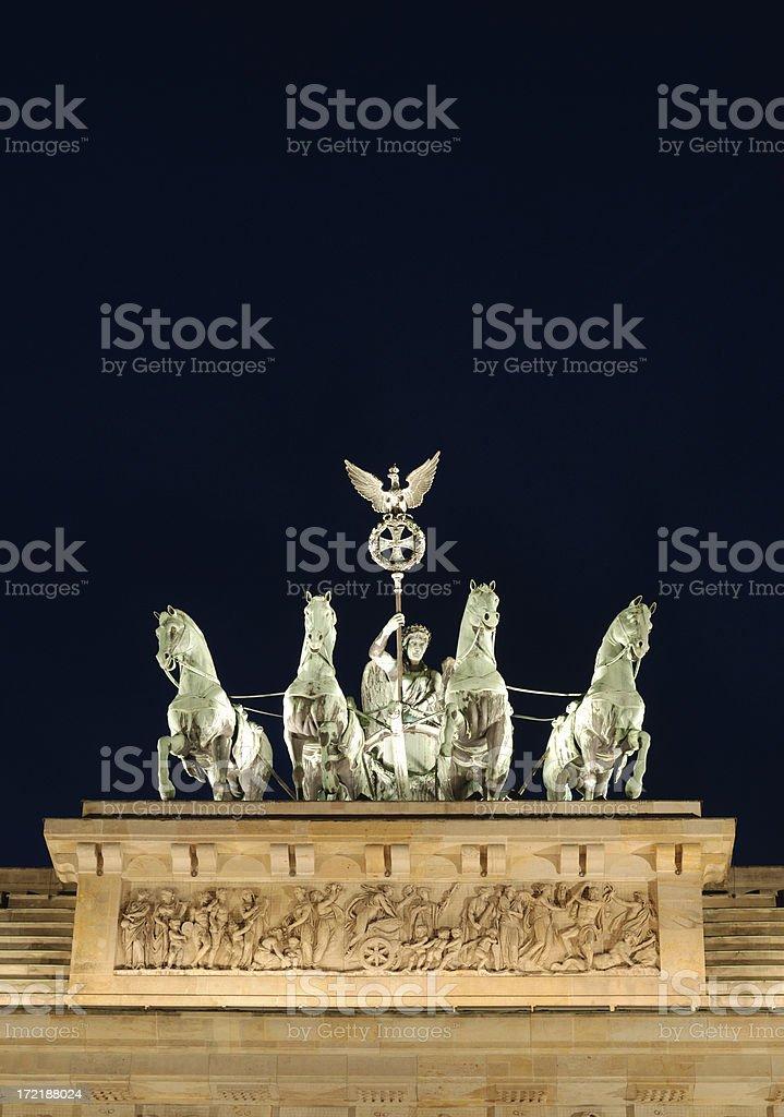 berlin - quadriga statue royalty-free stock photo