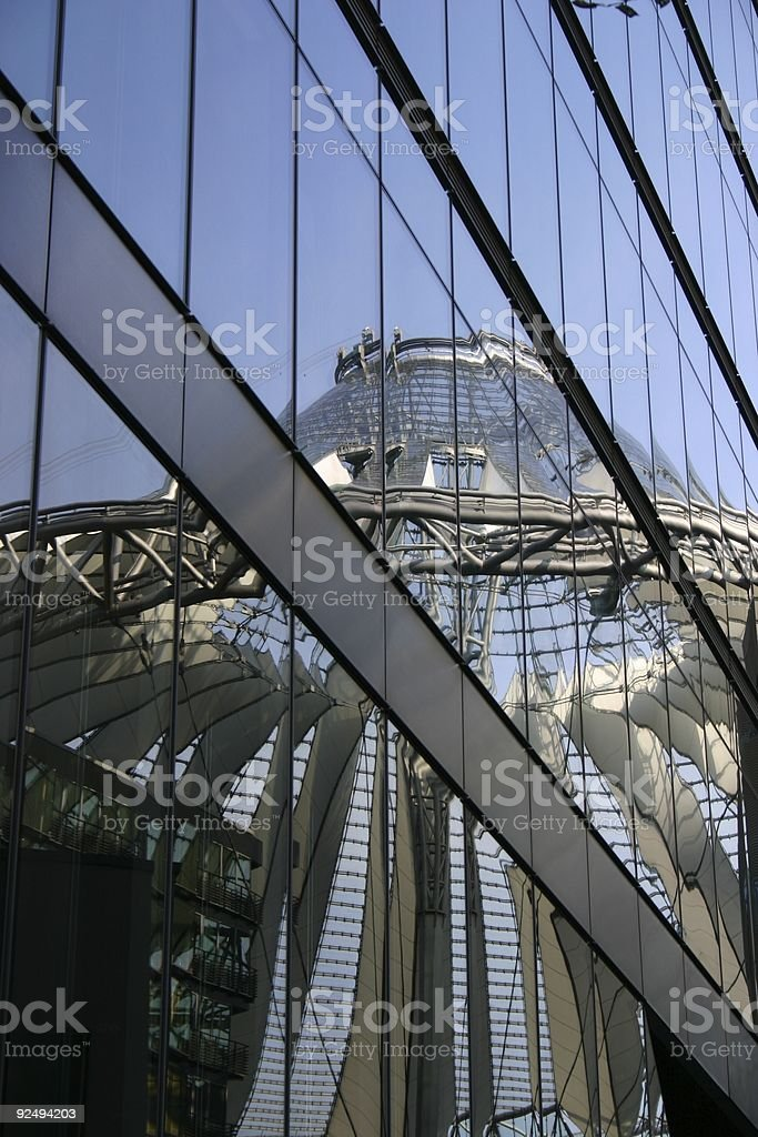 Berlin reflection of Sony Center royalty-free stock photo