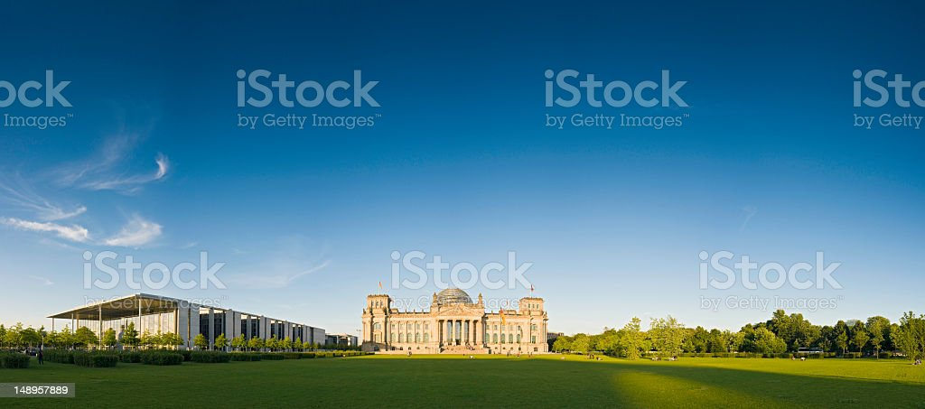 Berlin Reichstag big sky background royalty-free stock photo