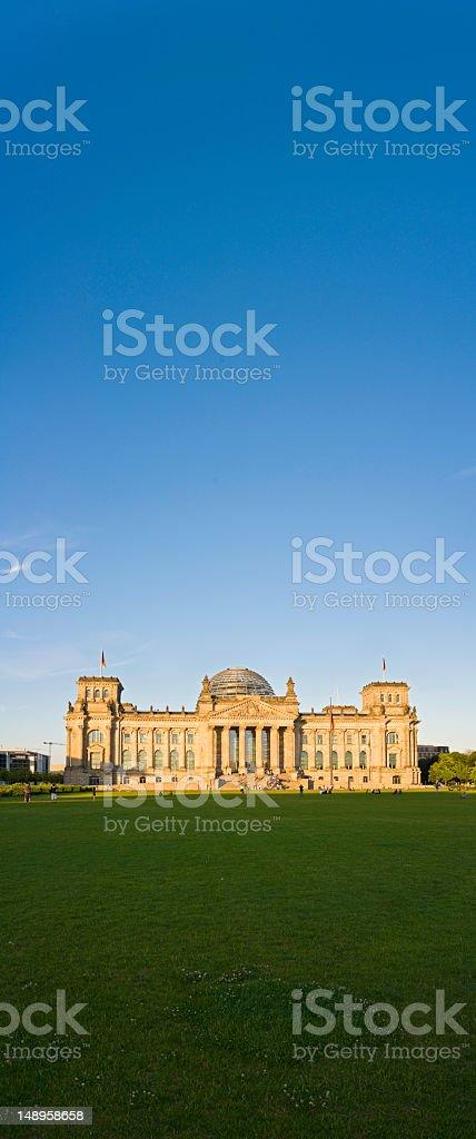Berlin Reichstag blue sky golden light banner royalty-free stock photo