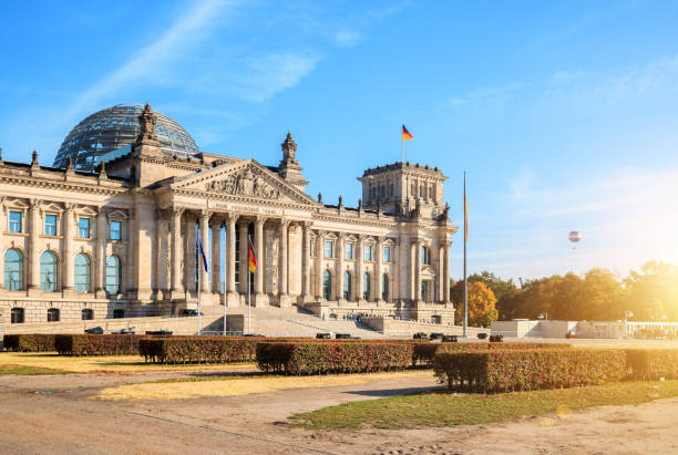 Berlin, Reichstag Building, sunny day stock photo