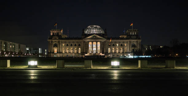 Berlin Reichstag / Bundestag at night stock photo