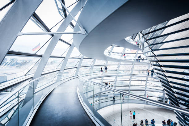 berlin reichstag dome, germany - cupola stock pictures, royalty-free photos & images