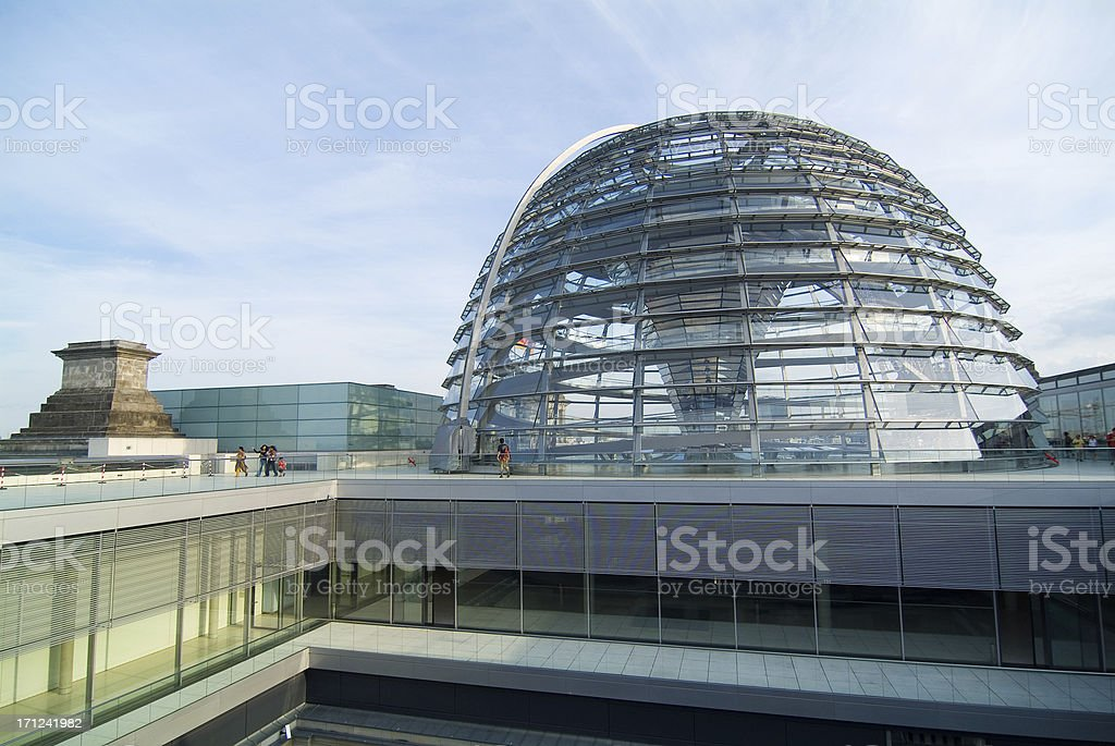Berlin Reichstag dome royalty-free stock photo