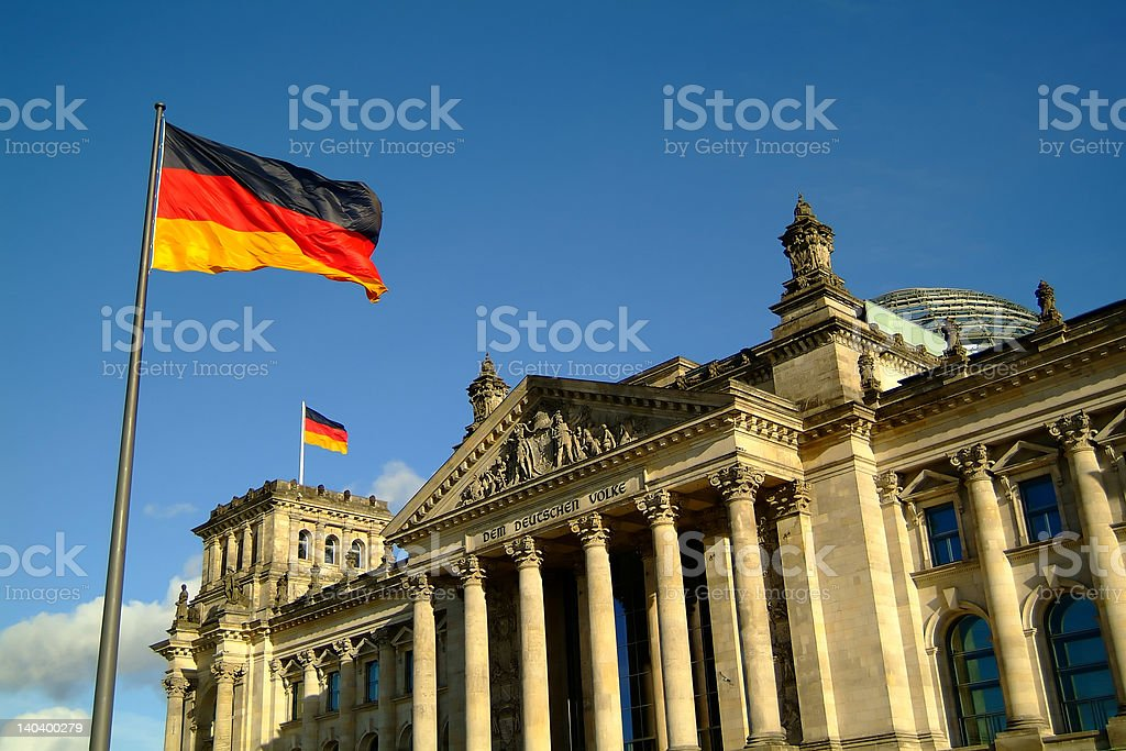 Berlin Reichstag royalty-free stock photo