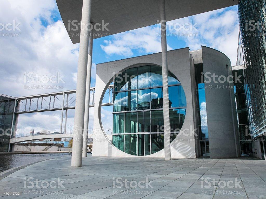 Berlin Reichstag Regierungsviertel Spree stock photo