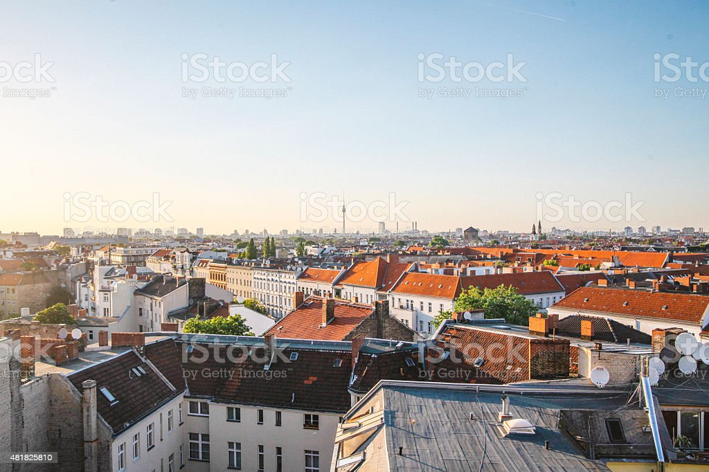 Dächer Berlins panorama – Foto