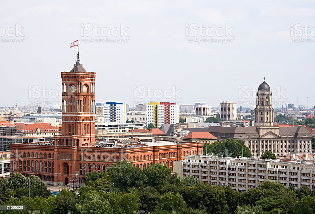 Berlin Rotes Rathaus (Red Town Hall) stock photo