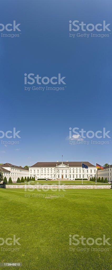 Berlin Schloss Bellevue blue sky banner royalty-free stock photo