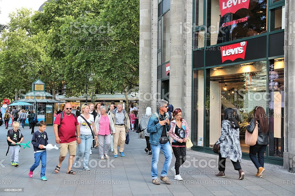 Berlin shopping stock photo