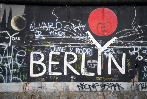 Berlin sign with red sun