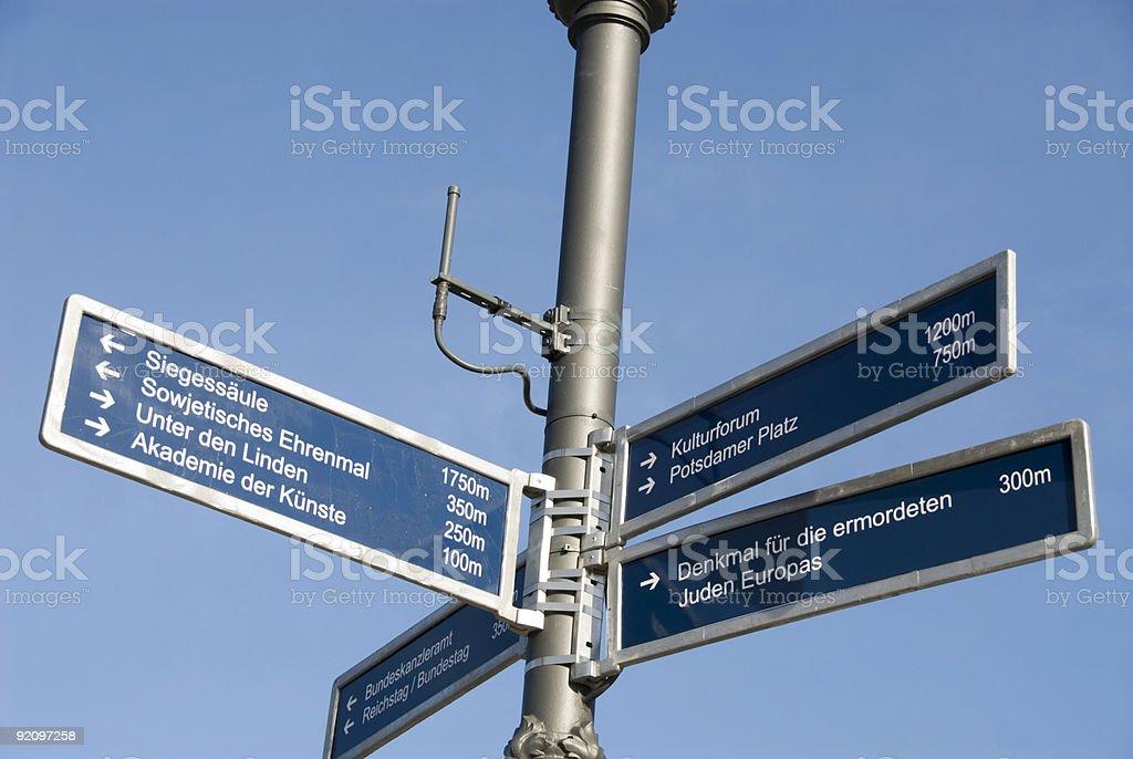 Berlin signpost royalty-free stock photo