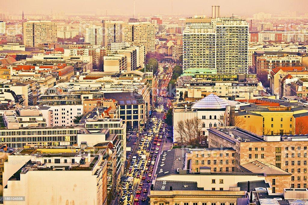 Berlin Skyline, Aerial View royalty-free stock photo
