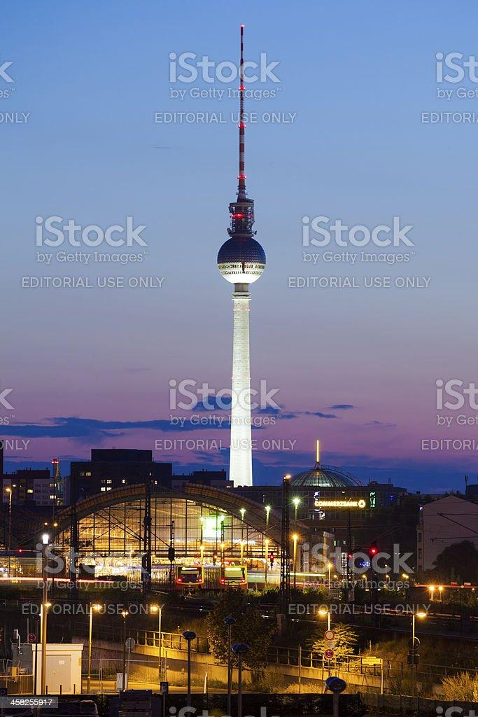 Berlin Skyline at dusk royalty-free stock photo