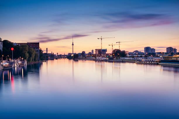 Berlin Skyline Long Exposure stock photo