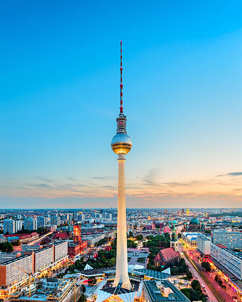 Berlin Skyline Berlin, Germany skyline. 2013 stock pictures, royalty-free photos & images