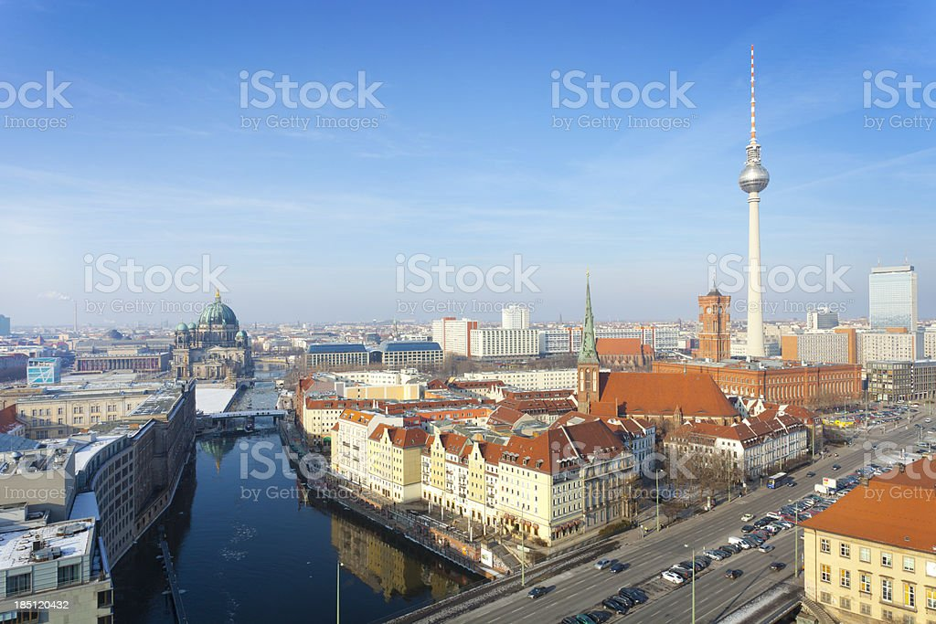 Berlin - Skyline with TV Tower royalty-free stock photo