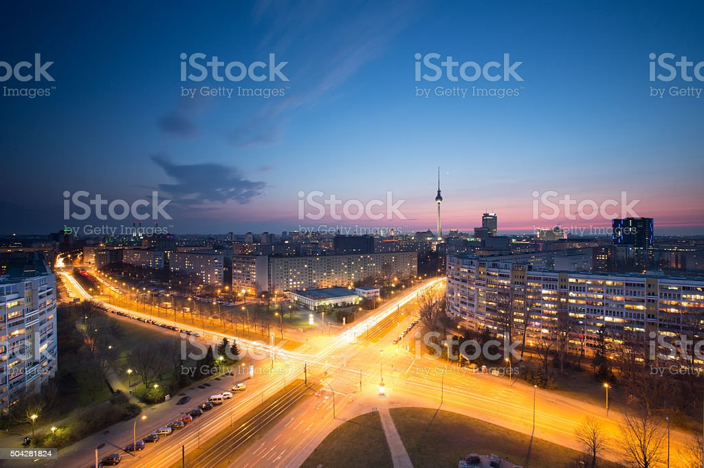Berlin skyline with TV Tower stock photo