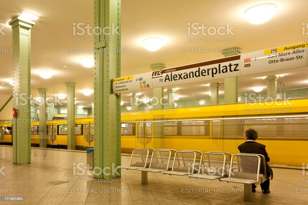 \'Berlin, Germany - June 16, 2012: sole person waiting far the train...