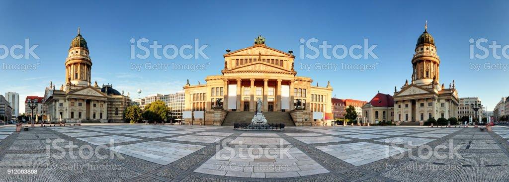 Berlin square -  Gendarmenmarkt, Panoramic view stock photo