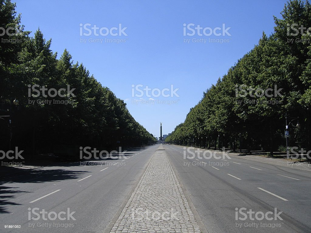Berlin Street of the 17th june royalty-free stock photo