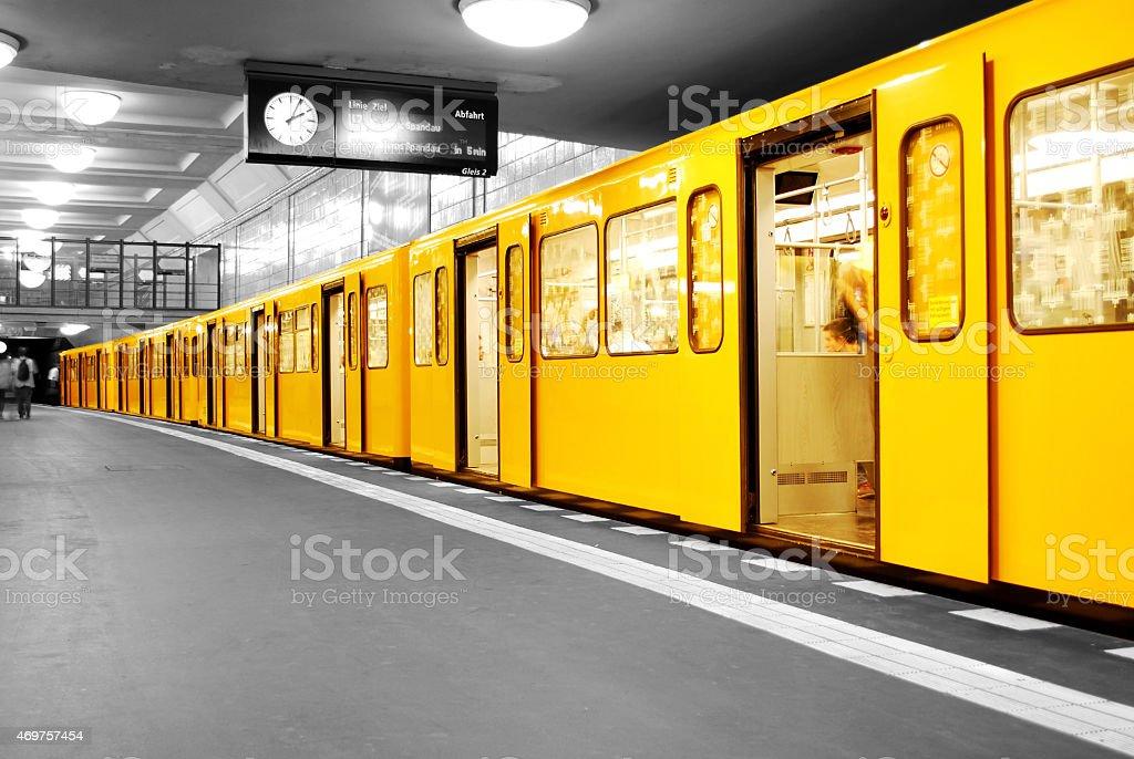 Berlin Subway U-Bahn stock photo