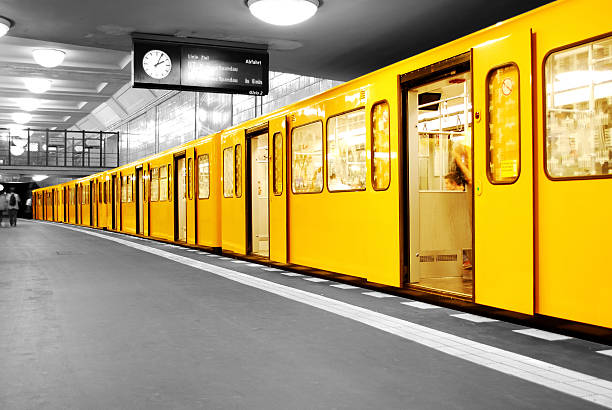 Berlin Subway U-Bahn stock photo