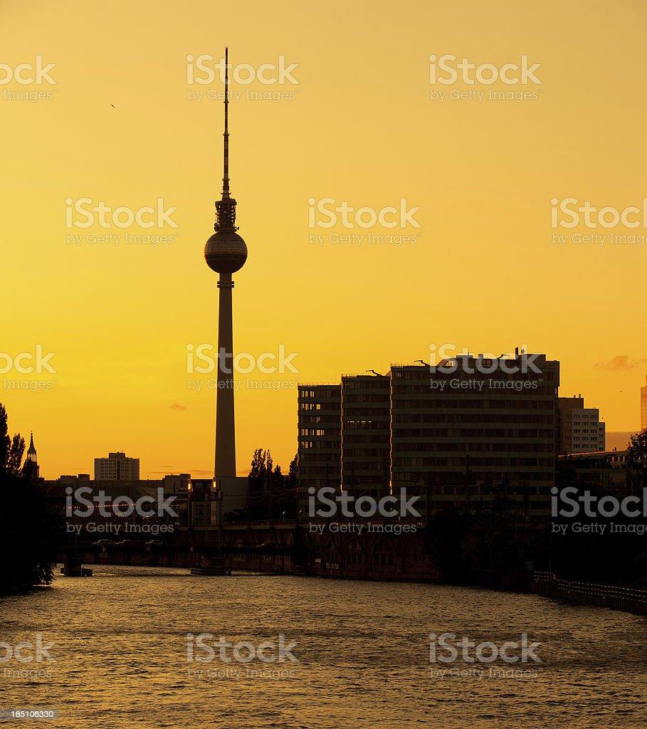 Berlin Sunset stock photo
