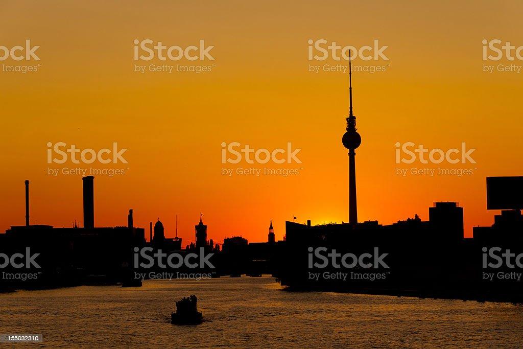 Berlin Sunset Silhouette royalty-free stock photo