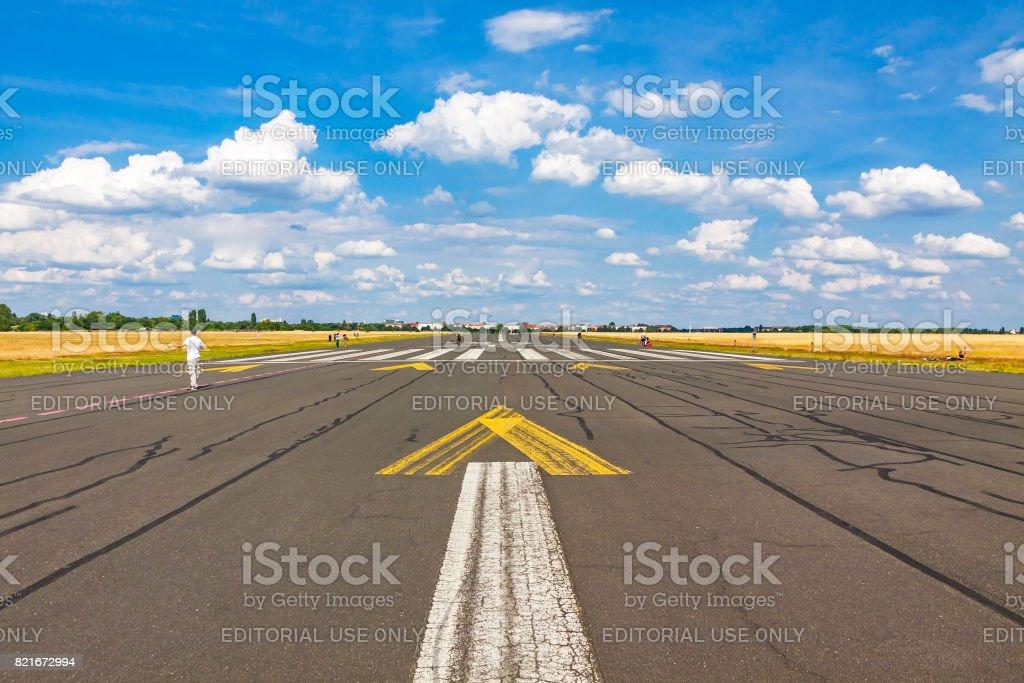 Berlin Tempelhof Airport, former airport of Berlin, Germany stock photo