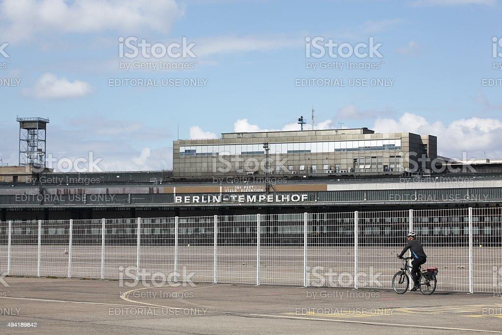 Berlin Tempelhof airport in Germany stock photo
