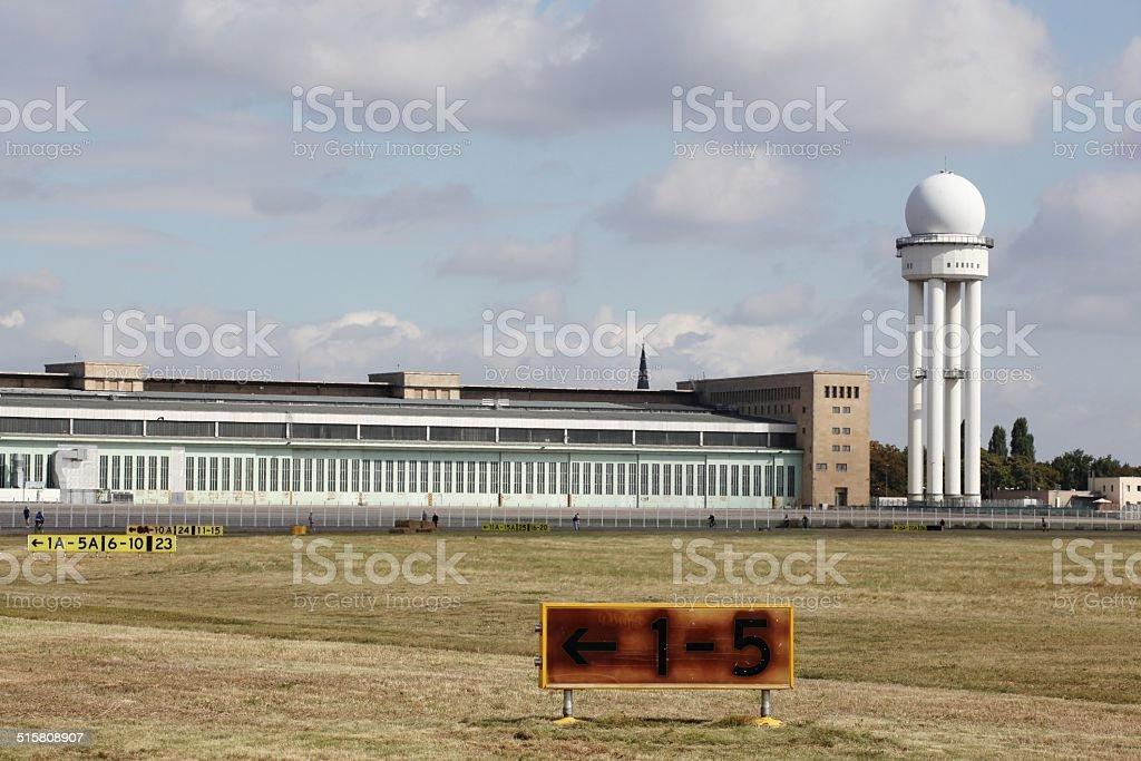 Berlin Tempelhof airport stock photo