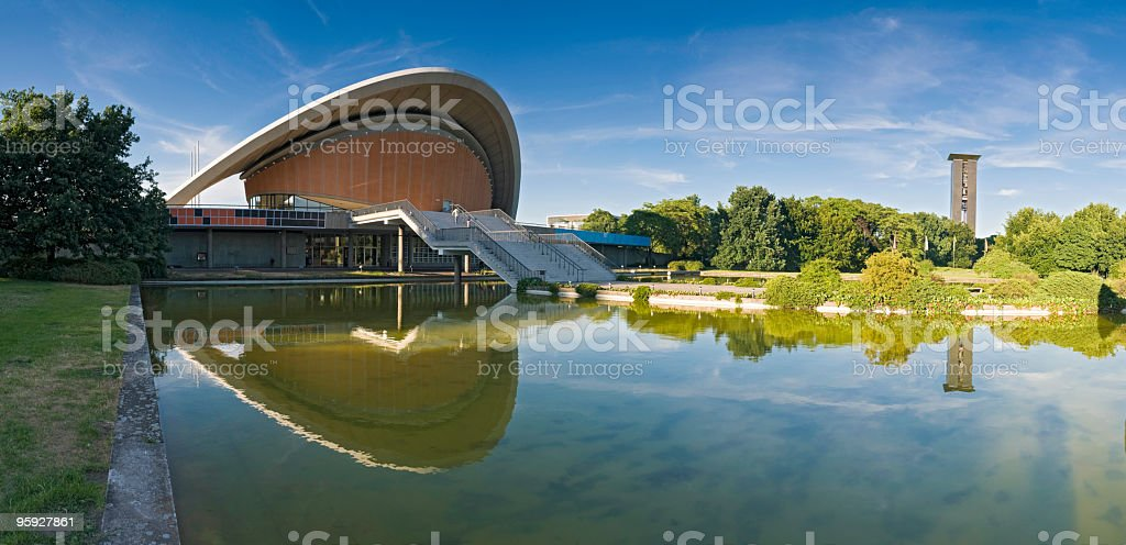 Berlin Tiergarten Congress Hall royalty-free stock photo