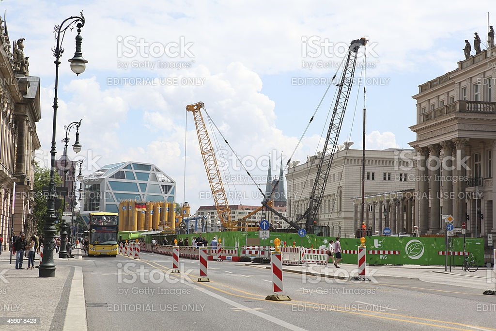 Berlin traffic and constructtion royalty-free stock photo
