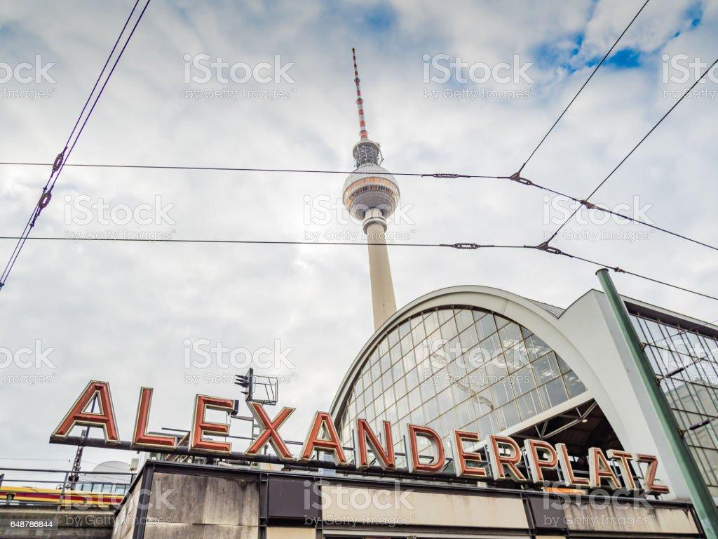Berlin TV Tower on Alexanderplatz (Germany) – Foto