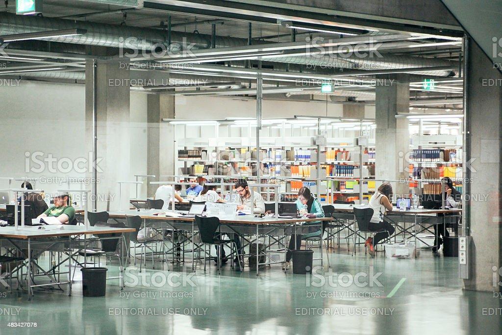 Berlin University library stock photo
