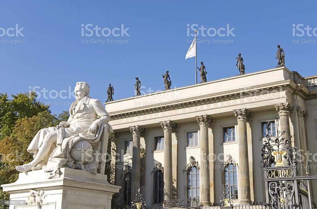 berlin university stock photo
